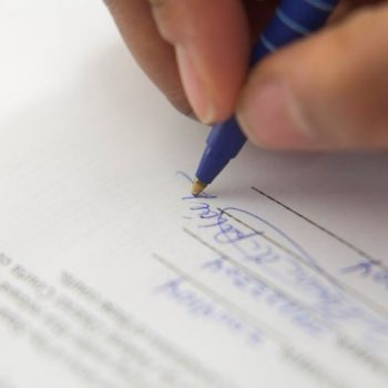 Property Management Lease Signing